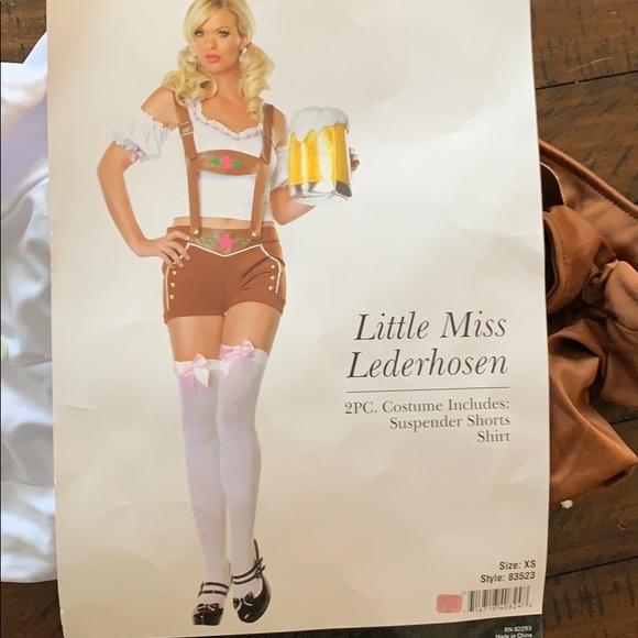 Little Miss Lederhosen costume Leg Avenue 83523 sizes xs s//m and m//l
